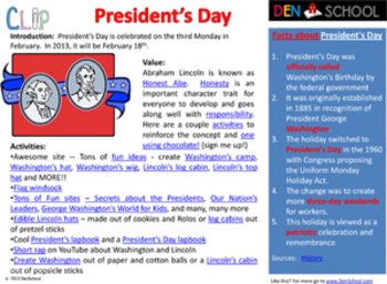 President's Day CLIP (Creative Learning in a Pinch)