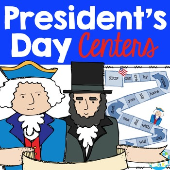 President's Day Literacy & Math Centers