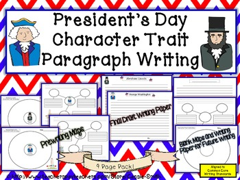 President's Day Character Trait Writing