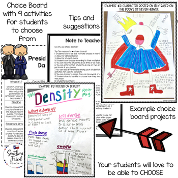 Presidents' Day Choice Board