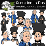 Presidents Day Clip Art: George Washington and Abraham Lincoln