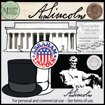 President's Day Clip Art Washington-Lincoln COMBO Set {Messare Clips and Design}