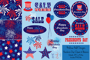 Presidents Day Clipart & Patterns