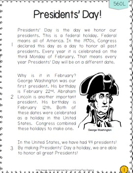 Presidents' Day Close Read and Money Practice Bundle