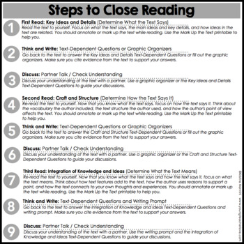 Presidents Day Close Reading: Differentiated Passages & Text-Dependent Questions