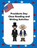 Presidents' Day Close Reading and Writing