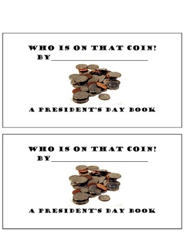 President's Day Coin mini book