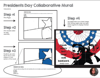 Presidents' Day Collaborative Poster - Presidents Day Mural