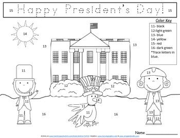 President's Day Color By Number