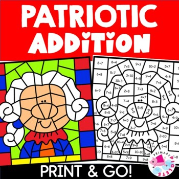 Presidents Day Color by Number Addition Facts