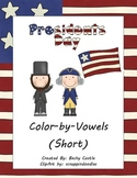 Presidents Day Color-by-Vowels