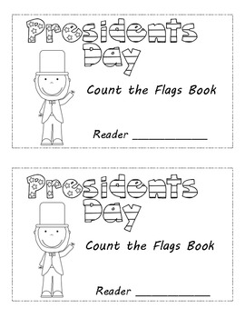 Presidents Day Count the Flags Emergent Reader
