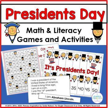 Presidents Day Math & Literacy