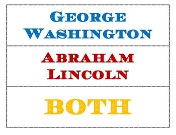 President's Day Comparison - Washington VS Lincoln