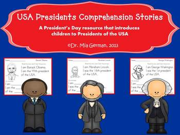 President's Day Comprehension Stories & Colored Posters