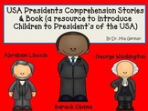 President's Day Comprehension Stories, Book & Pictures BUNDLE