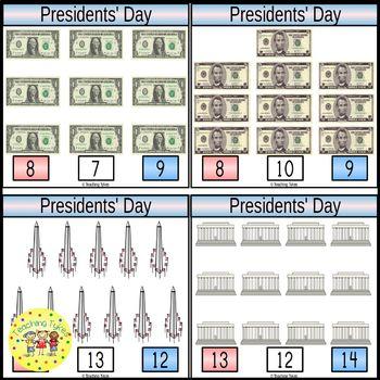 Presidents' Day Clip Task Cards