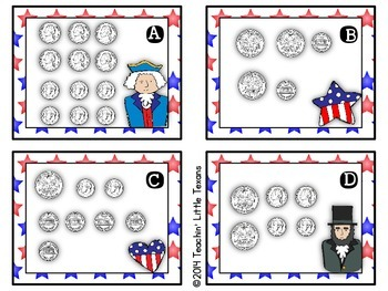 Presidents' Day Counting Coins Center