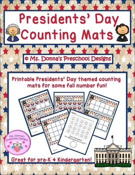 Presidents' Day Counting Mats