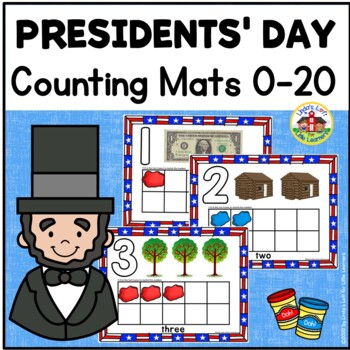 Presidents Day Counting Play Dough Mats 0-10