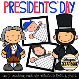 Presidents' Day Craft & Printables in English & Spanish