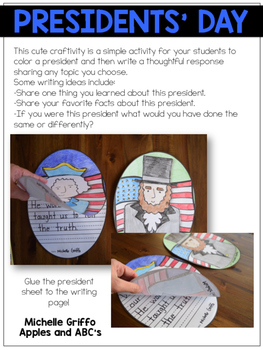 Presidents' Day Craftivity