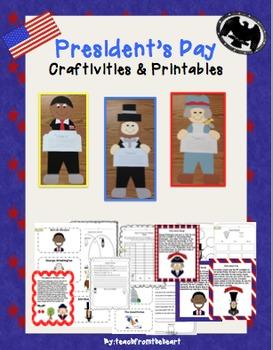 President's Day Craftivities & Printables (Obama, Lincoln, Washington)