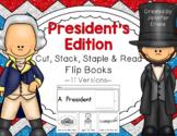 President's Day 'Cut, Stack, Staple, Read' Flip Books!  ~8