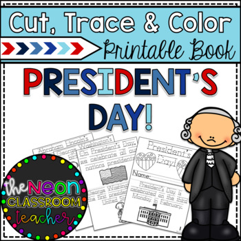 """President's Day"" Cut, Trace & Color Printable Book!"