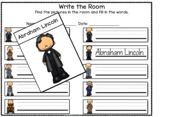Presidents Day Differentiated Worksheets and Activiites
