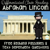 Presidents' Day Freebie | Differentiated Biography of Abraham Lincoln