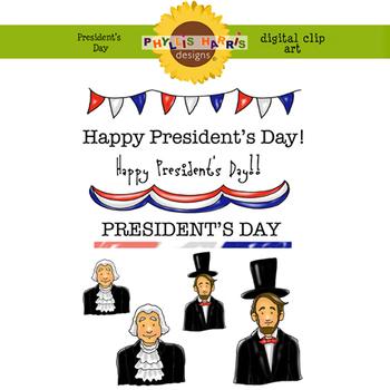 President's Day Digital Clip Art for Teachers