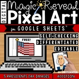 Presidents Day Digital Pixel Art Magic Reveal ADDITION & S