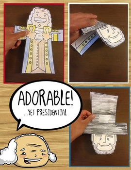 Presidents Day Double-Sided Art Project + Writing & Emergent Reading!