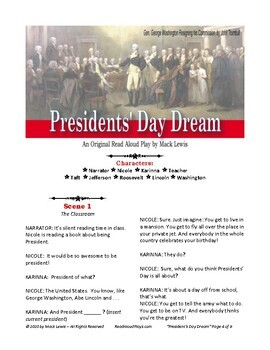 Presidents' Day Dream Reader's Theater