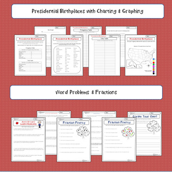 Presidents' Day ELA & Math Activities