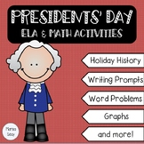 Presidents' Day ELA & Math Activities