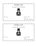President's Day Emergent Reader: Abraham Lincoln
