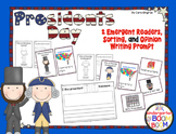 Presidents Day Emergent Readers, Sort, and Writing Prompt