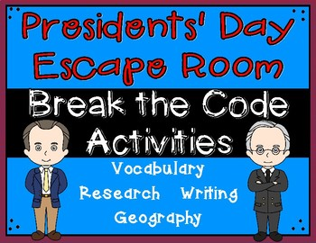 Presidents' Day Escape Room