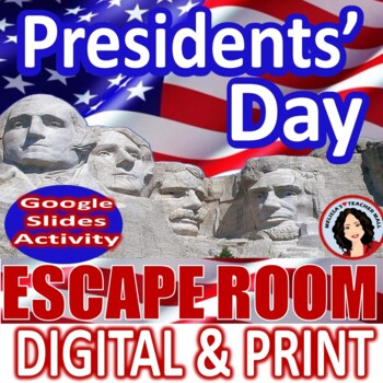 Presidents Day Activities Escape Room Activity