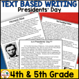 Presidents' Day FSA Writing - February Passages, Writing Prompts, and Rubric
