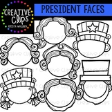 Presidents Day Face Templates {Creative Clips Clipart}