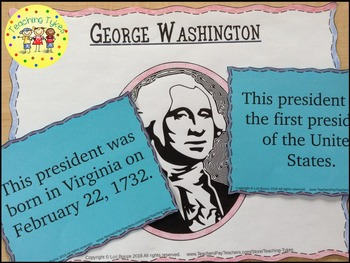 Presidents' Day Matching and Writing Activity FREEBIE