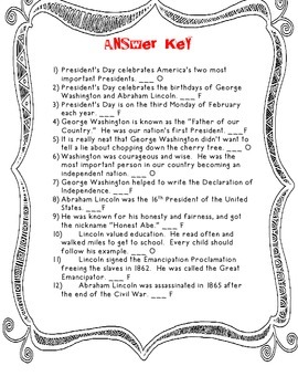 President's Day: Fact and Opinion