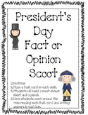 President's Day Fact and Opinion Scoot