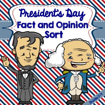 President's Day Fact and Opinion Sort