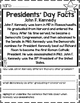 Presidents' Day Facts No Prep Printables Non-fiction Passages