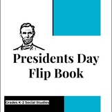 Presidents Day Flip Book Primary Grades