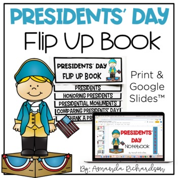 Presidents Day Flip Up Book